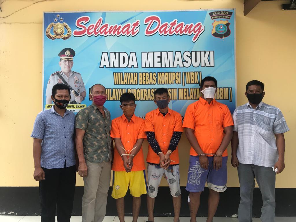 Sat Reskrim Kepolisian Resor Batu Bara Ringkus Tiga Pria Pemilik Sejata Api Ilegal